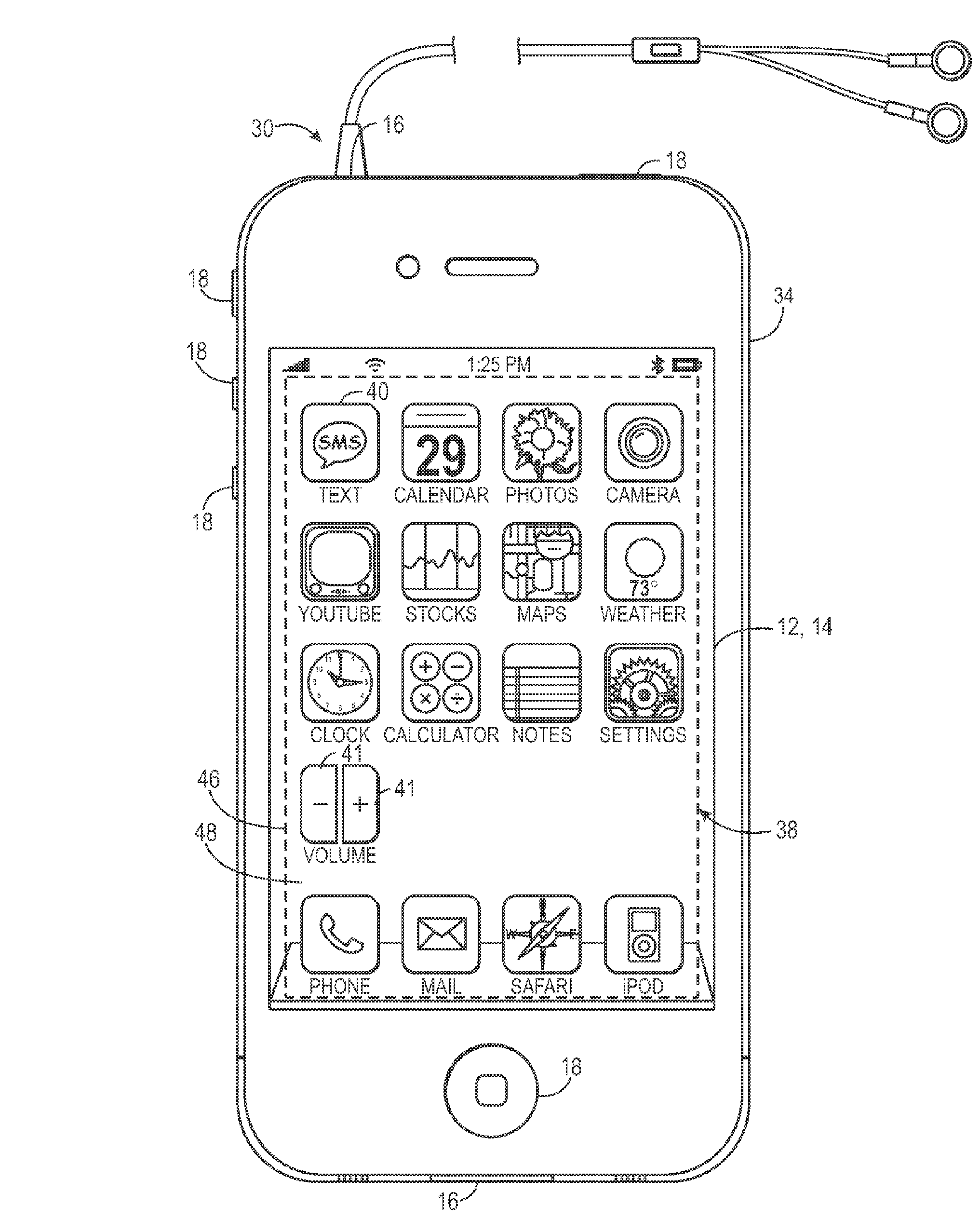 Apple patent (interactive flexi display 001)