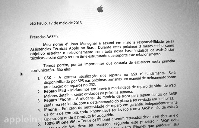 AppleCare changes (Brazil, AppleInsider 001)