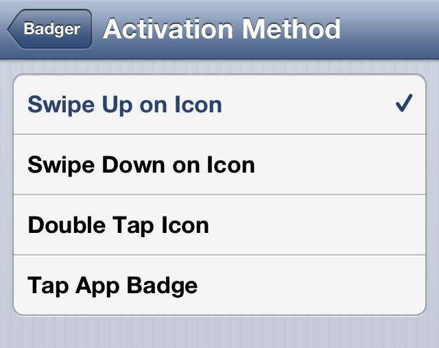Badger Activation Method