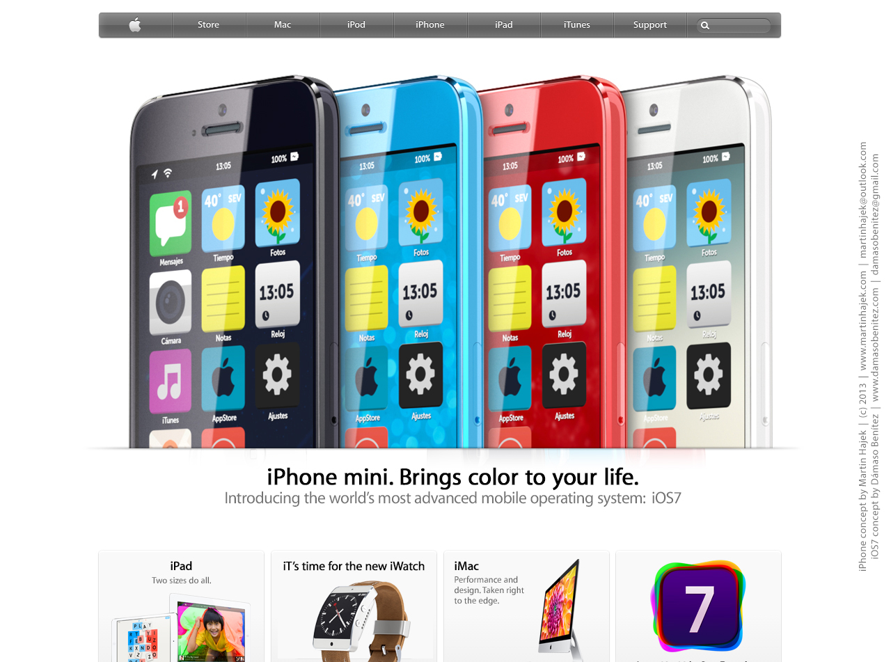 Budget iPhone concept (iOS 7, Martin Hajek 001)