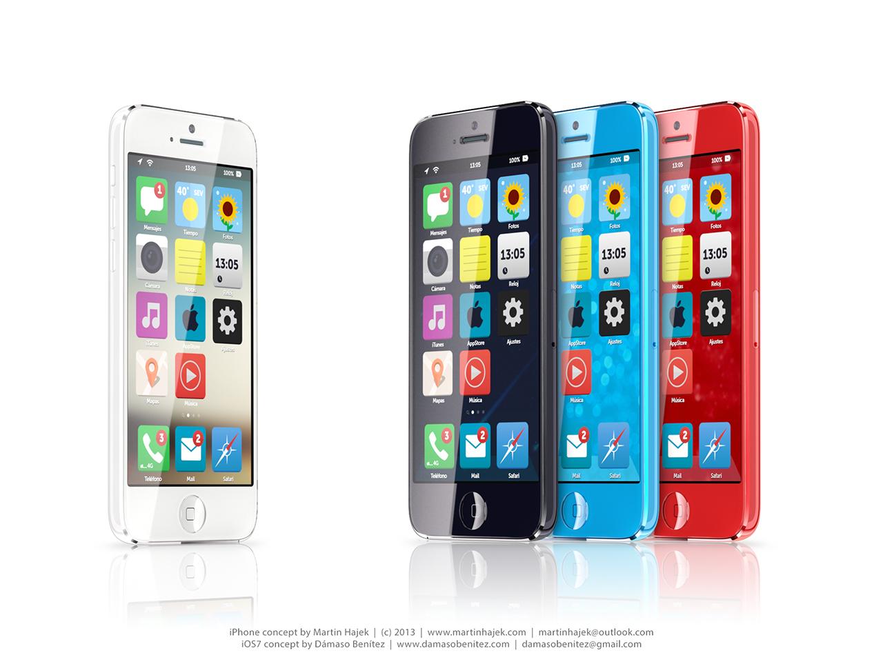 Budget iPhone concept (iOS 7, Martin Hajek 003)