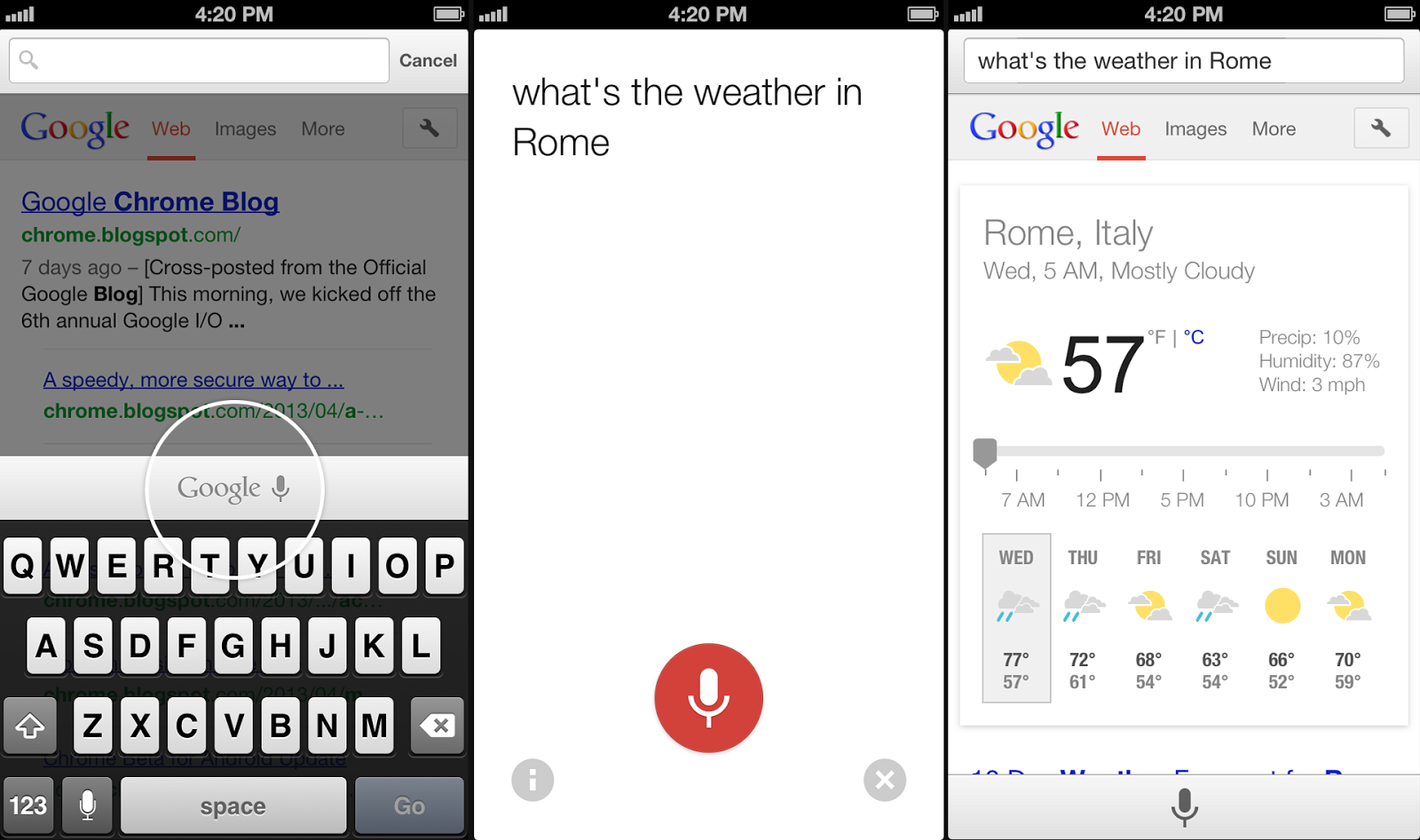 Chrome for iOS (Voice Search teaser)