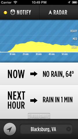 Dark Sky 3.0 for iOS (iPhone screenshot 001)