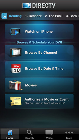 DirecTV 2.5 for iOS (iPhone screenshot 004)