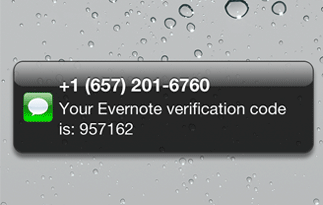Evernote (two-step verification)