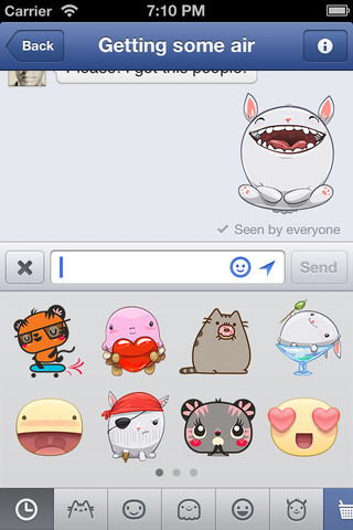 Facebook Messenger 2.4 for iOS (iPhone screenshot 001)