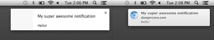 Google Chrome (rich Mac notifications)