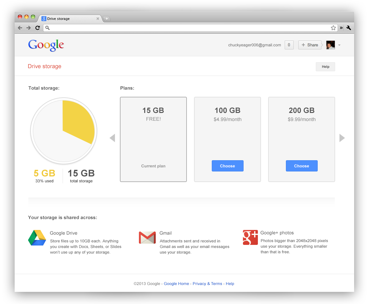 Google shared storage (web screenshot 001)