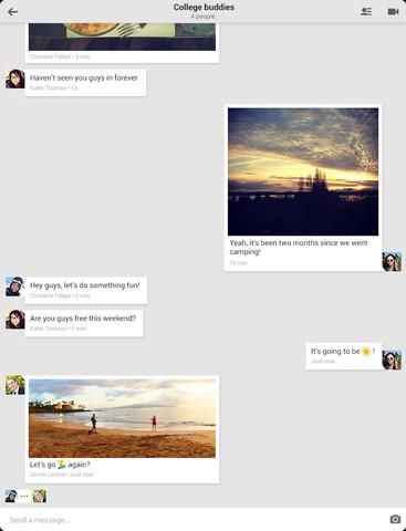Hangouts 1.0 for iOS (iPad screenshot 002)