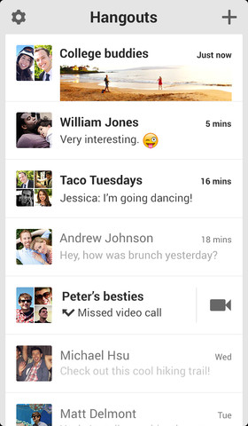 Hangouts 1.0 for iOS (iPhone screenshot 001)