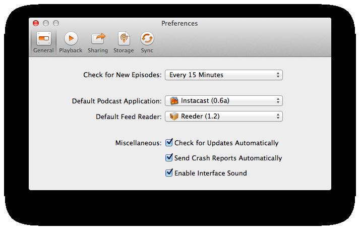 Instacast for Mac Public Beta (screenshot 002)