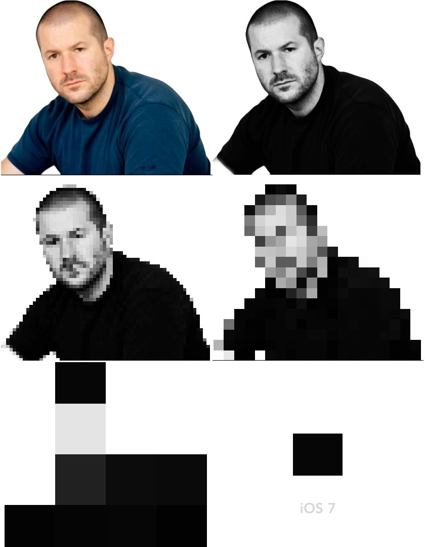Jony Ive (black, white, flat)