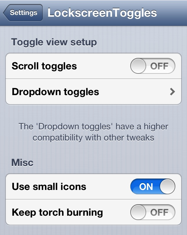 Lockscreen Toggles Updated Settings