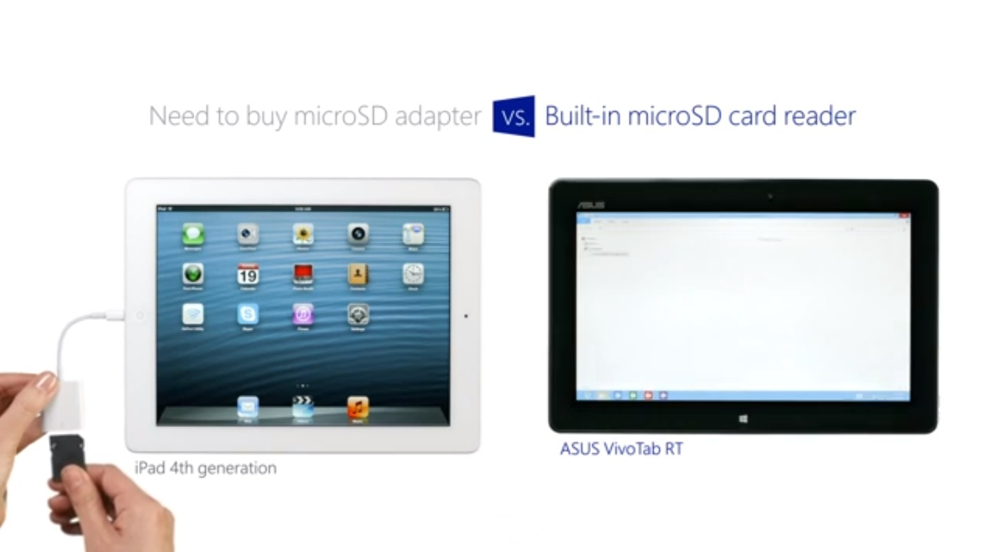 another microsoft ad disses ipad s specs multitasking airprint and