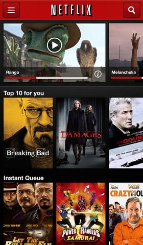 Netflix 4.1 for iOs (iPhone screenshot 001)