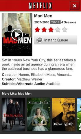 Netflix 4.1 for iOs (iPhone screenshot 002)