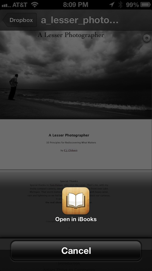 How to save PDF files to iBooks