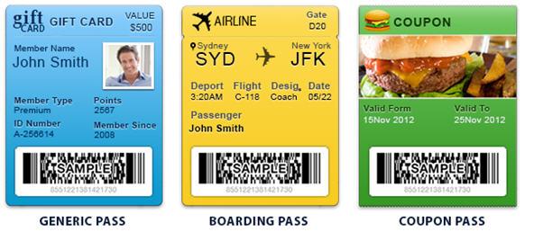 Passbook passes