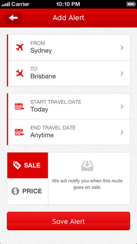 Qantas Airways 10. for iOS (iPhone screenshot 004)