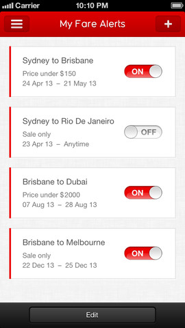 Qantas Airways 10. for iOS (iPhone screenshot 005)