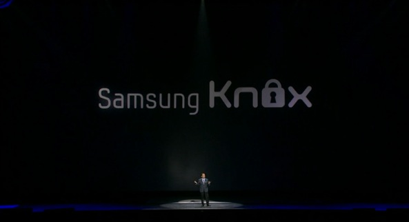 Samsung Galaxy S4 unveiling (Knox slide)