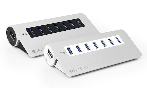 satechi releases 7 port aluminum usb 3 0 hub that matches your mac giveaway. Black Bedroom Furniture Sets. Home Design Ideas