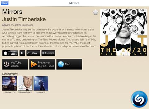 Shazam 6.0 for iOS (iPad screenshot 002)