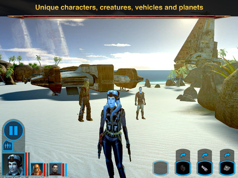 Star Wars - Knights of the Old Republic for iOS (iPad screenshot 001)