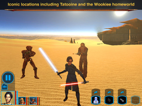 Star Wars - Knights of the Old Republic for iOS (iPad screenshot 003)