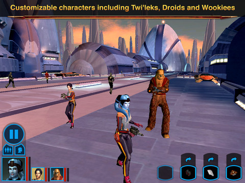 Star Wars - Knights of the Old Republic for iOS (iPad screenshot 004)