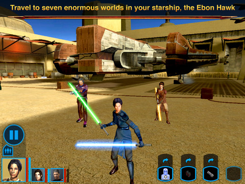 Star Wars - Knights of the Old Republic for iOS (iPad screenshot 005)