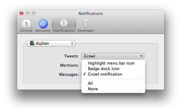 Twitter 2.2.1 for Mac (Settings, Notifications 002)