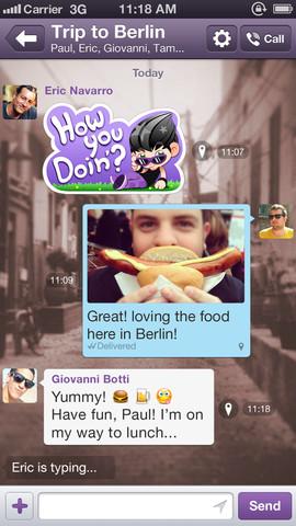 Viber 3.0 for iOS (iPhone screenshot 003)