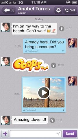 Viber 3.0 for iOS (iPhone screenshot 004)