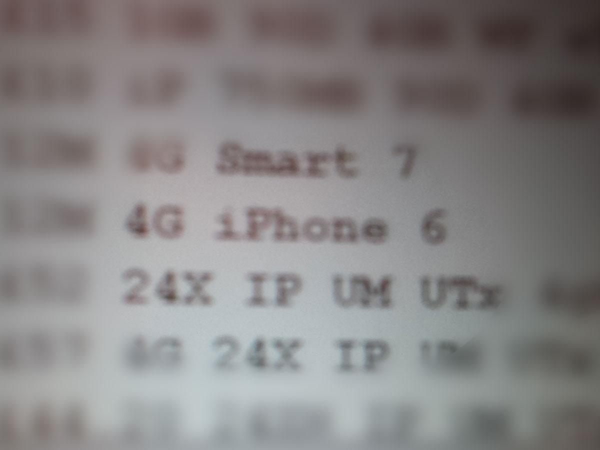 Vodafone UK (iPhone 6 listing)
