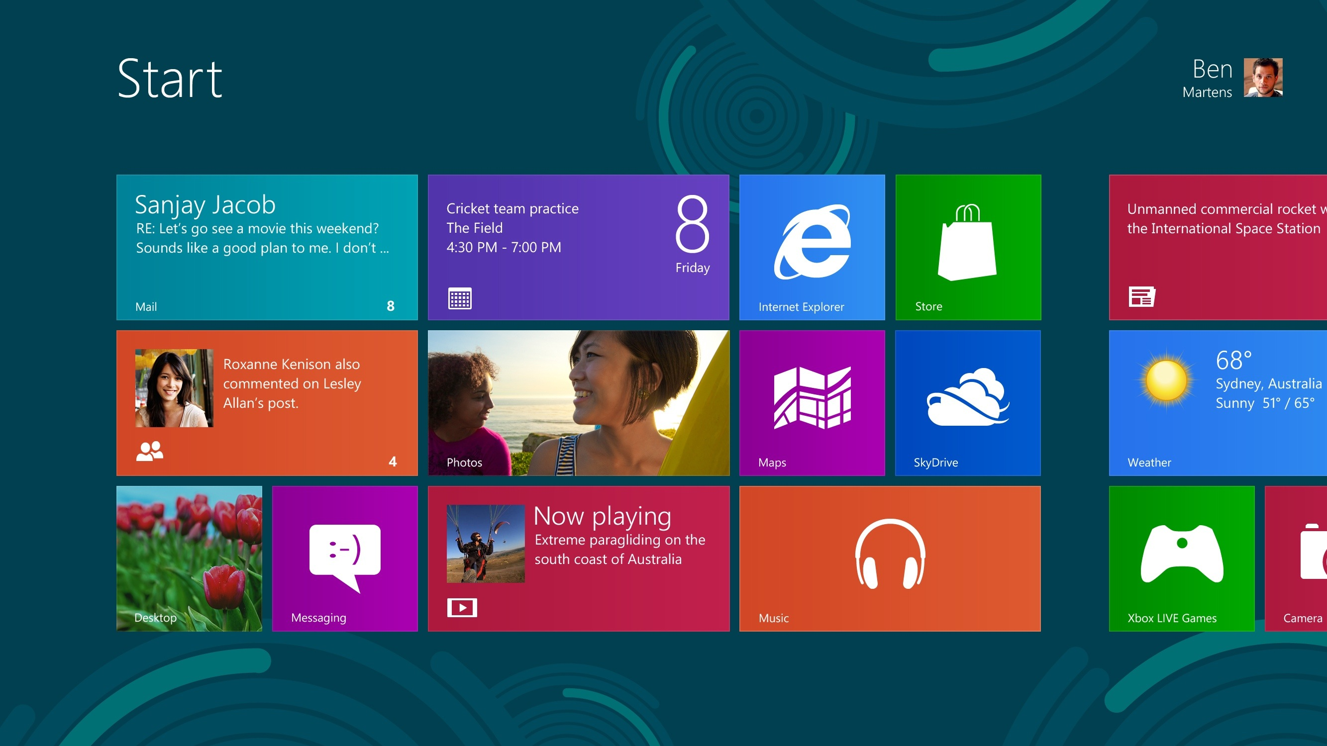 Windows 8 (Start screen)