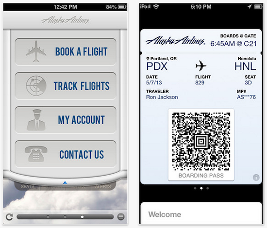 Alaska Airlines Updates App With Passbook Support