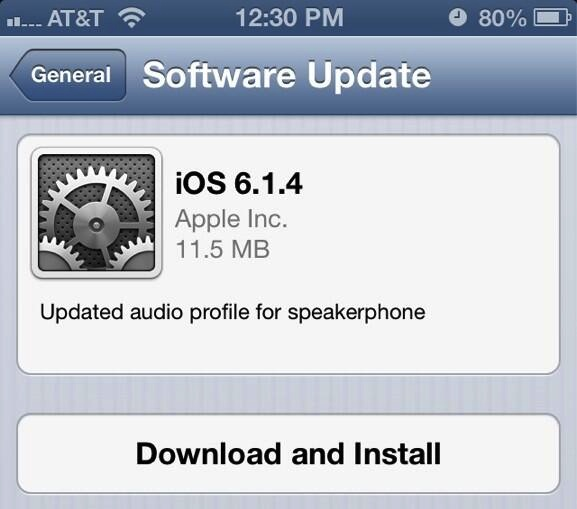 iOS 6.1.4 software update