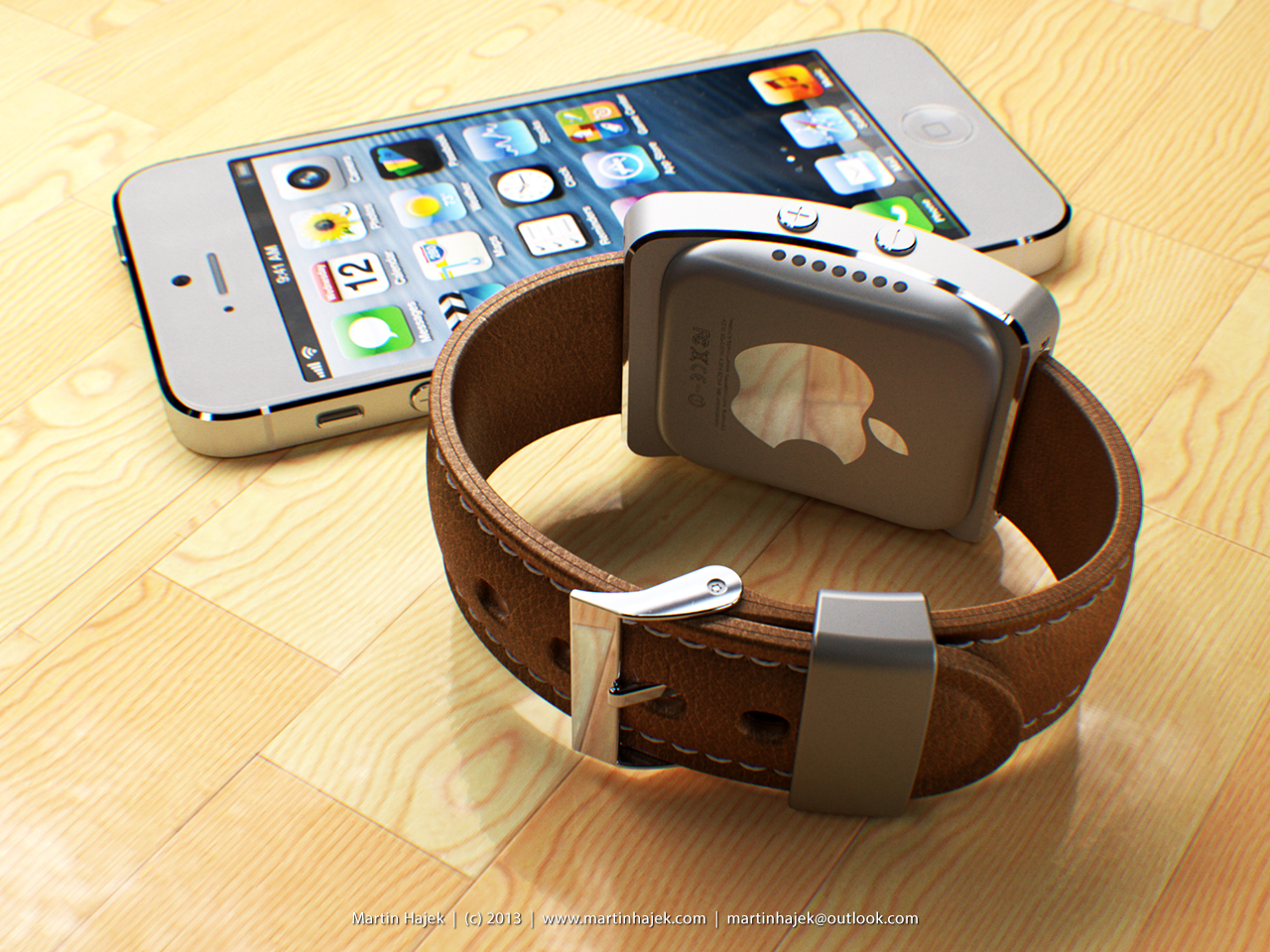 iWatch cocept (Martin Hajek, MacUser April 2013 issue 002)