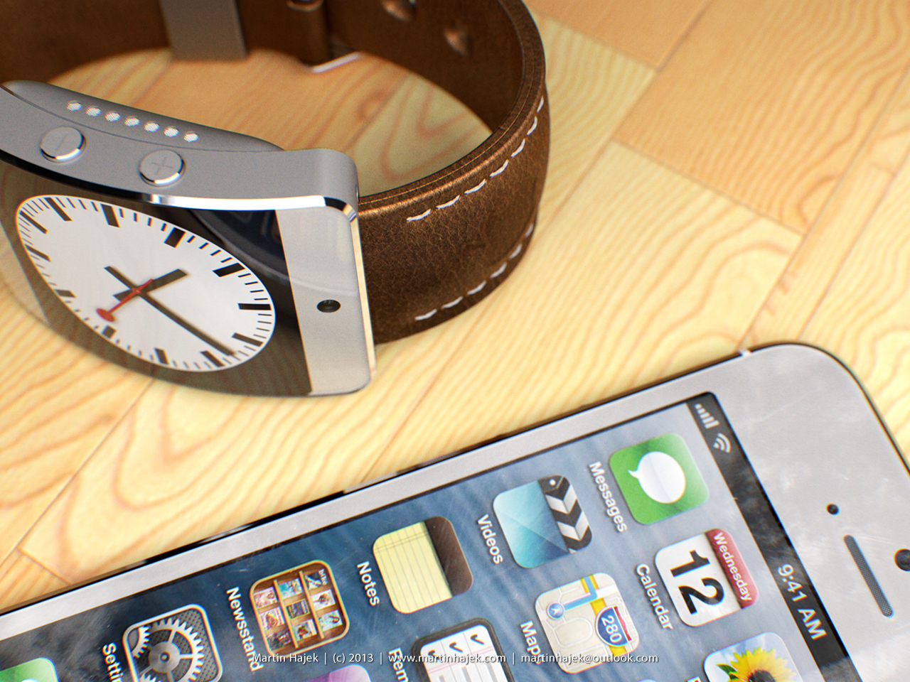 iWatch cocept (Martin Hajek, MacUser April 2013 issue 005)