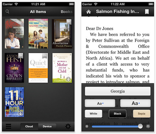 Amazon updates Kindle app with new accessibility features