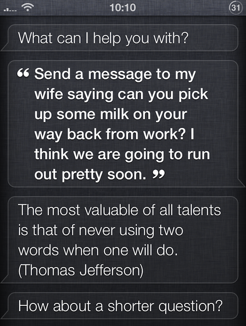 Siri Quote Mesmerizing Siri Updated To Respond To Longer Queries With Quotes On Brevity