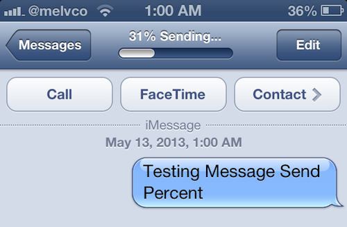 message send percent