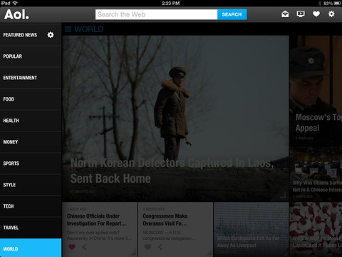 AOL for iOS (iPad screenshot 003)