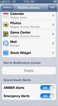 ATT Alerts (iPhone screenshot 001)