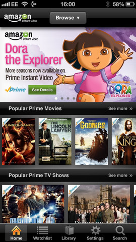 Amazon Instant Video 1.4.3 for iOS (iPhone 5 screenshot 001)