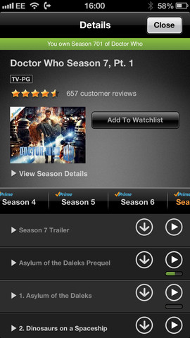 Amazon Instant Video 1.4.3 for iOS (iPhone 5 screenshot 003)