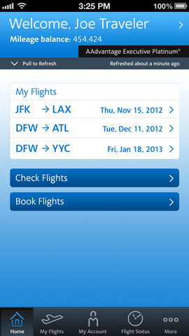 American Airlines 2.4 for iOS (iPhone screenshot 002)