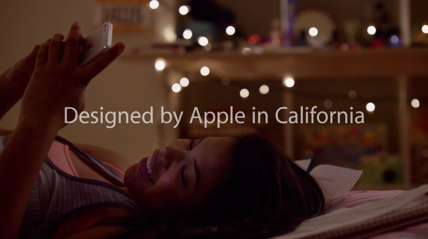 Apple ad (Designed by Apple in California 001)