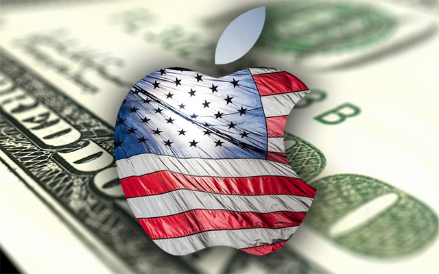 Apple logo (American flag, money)